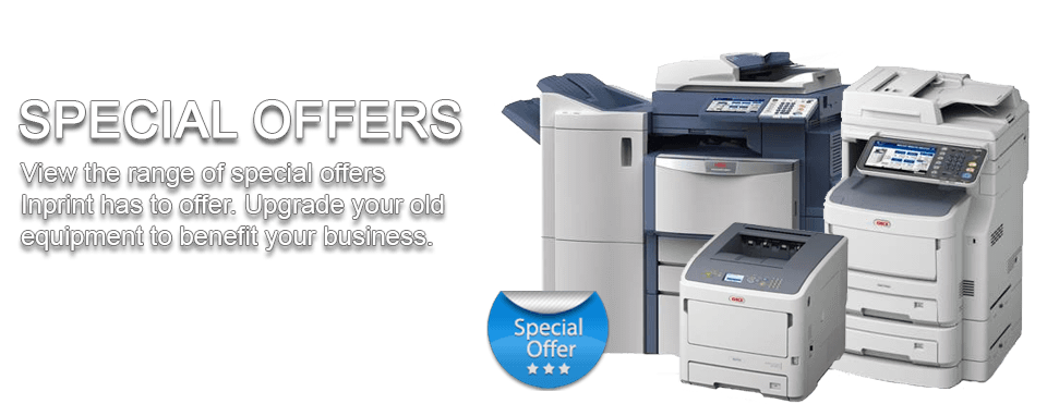 Inprint Services Special Offers printer sales
